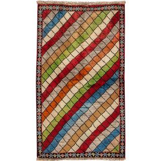 "Apadana Vintage Persian Gabbeh Rug -- 3'7"" x 6'2"""