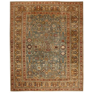 Antique Oversize 19th Century Indian Agra Carpet