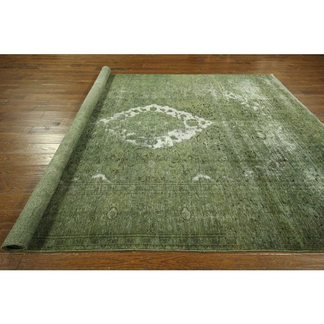 Traditional Green Overdyed Area Rug - 8' x 11' - Image 10 of 10