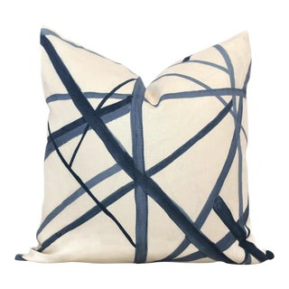 Periwinkle Blue Channels Pillow Cover by Groundworks, 20x20