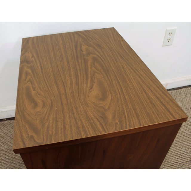 Danish Mid-Century Modern 2-Drawer Walnut Nightstand/End