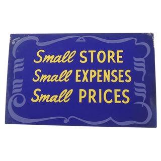 Vintage 40s Shop Sign