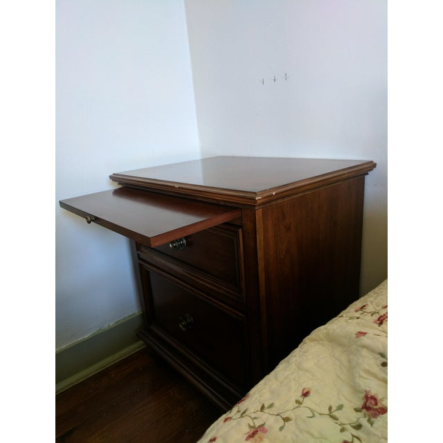 Nightstand or End Table With Pull-Out Tray - Image 3 of 5