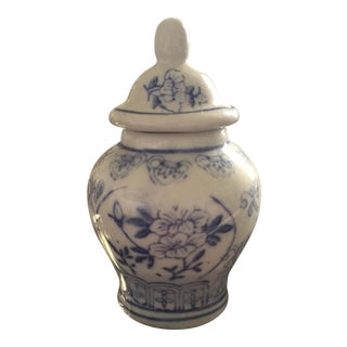 Small Chinoiserie Blue & White Ginger Jar