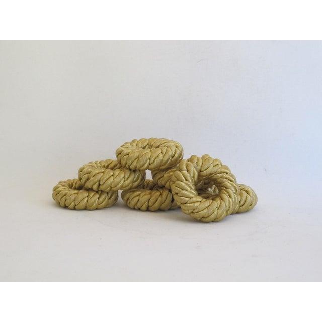 Gold Rope Napkin Holders - Set of 7 - Image 2 of 5