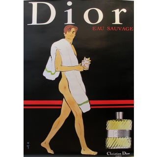 1979 Vintage Christian Dior Eau Sauvage Perfume Ad