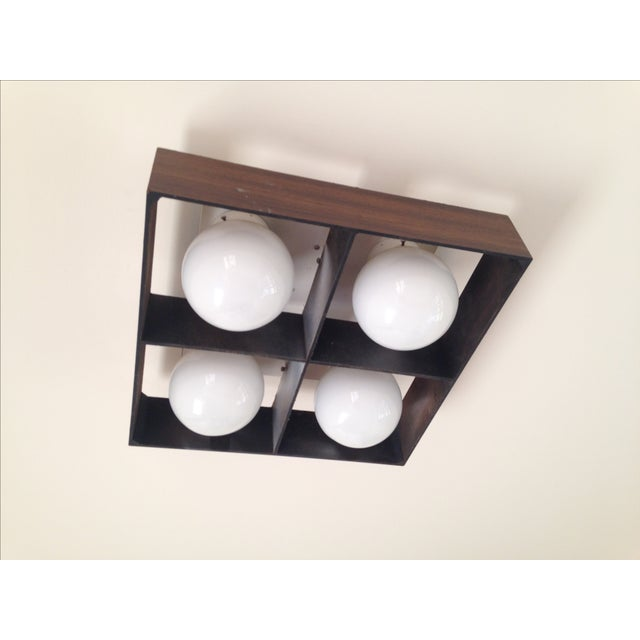 Mid-Century Orb Four-Light Ceiling Fixture - Image 2 of 10