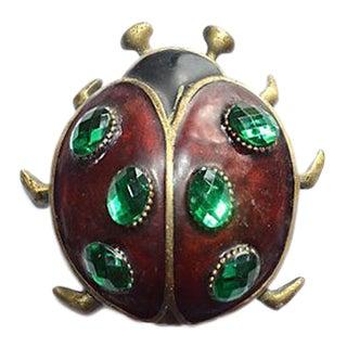 Vintage Jeweled Ladybug Door Knocker