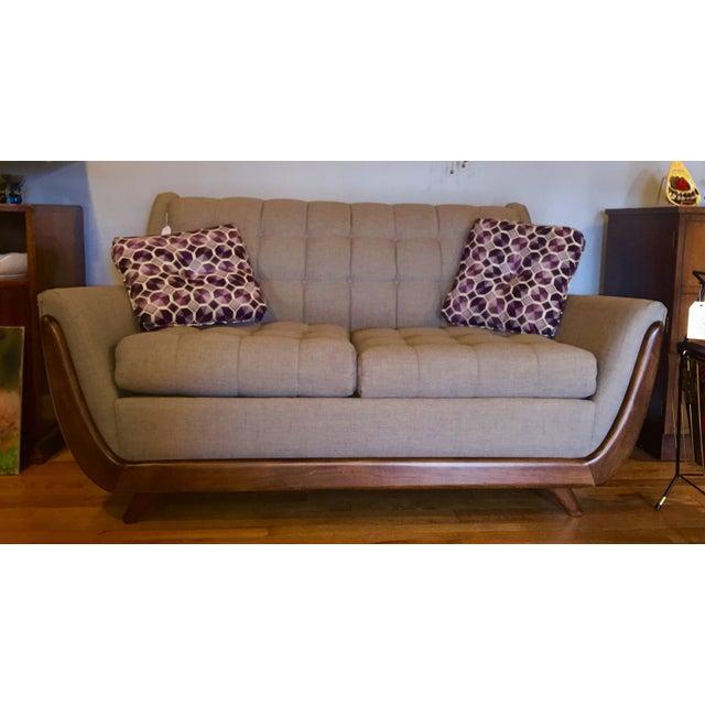 Bassett Mid Century Persall Style Sleeper Sofa - Image 2 of 6