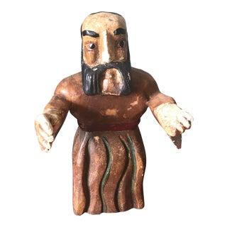 Wooden Santos Figure in Robe