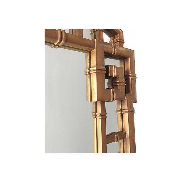 Image of Greek Key Gold Frame Mirror 1960's