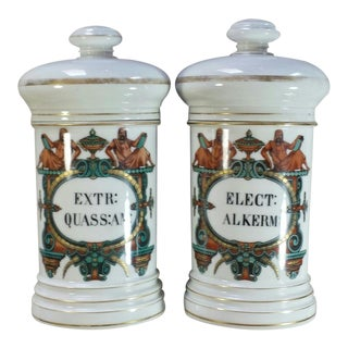 Pharmaceutical Apothecary Jars - a Pair