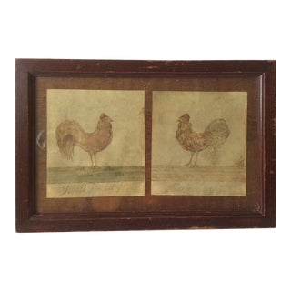 Primitive Watercolor Chicken Paintings