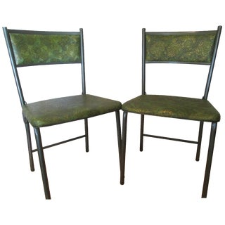 Vintage Cosco Vinyl Gate Folding Chairs - A Pair