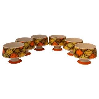 Vintage 1960s Footed Dessert Bowls - Set of 6