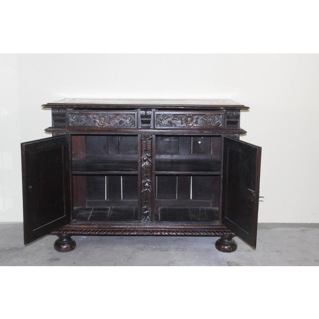 Antique 19th C. French Walnut Buffet - Image 5 of 5