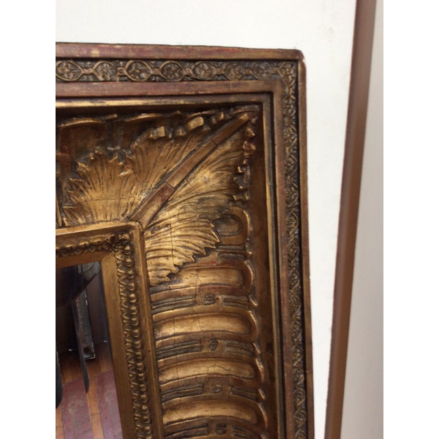 Antique Framed Carved Wood Mirror - Image 4 of 9