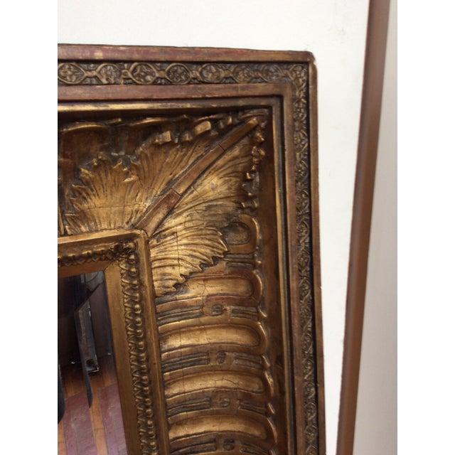 Image of Antique Framed Carved Wood Mirror