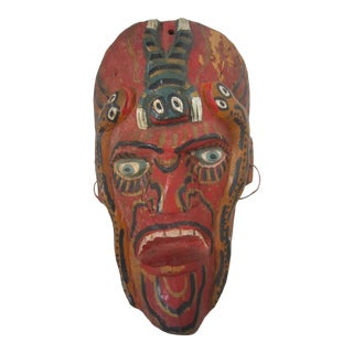 Vintage Mexican Wood Mask