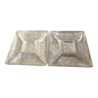 Large Chip and Dip Serving Trays - a Pair