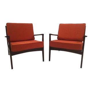 Mid-Century Danish Teak Arm Chairs - A Pair