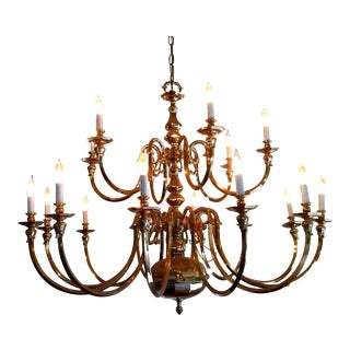 Gold-Plated Crystal Chandelier