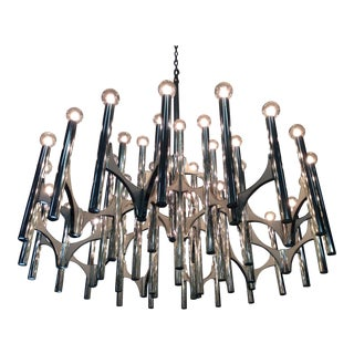 Gaetano Sciolari for Lightolier 35 Light Chandelier