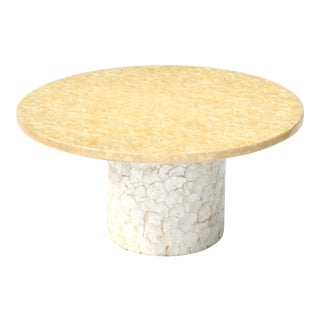 Hollywood Regency Capiz Shell Coffee Table