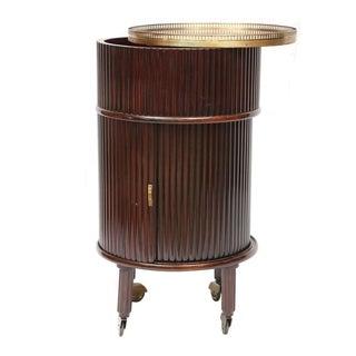 Art Deco Mahogany Round Bar Cabinet