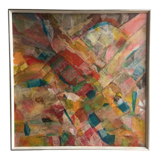 Mid-Century Abstract Collage Painting