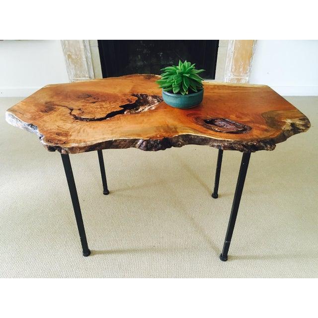 Burl Coffee Table Legs: Raw Edge Cherry Burl Coffee Table