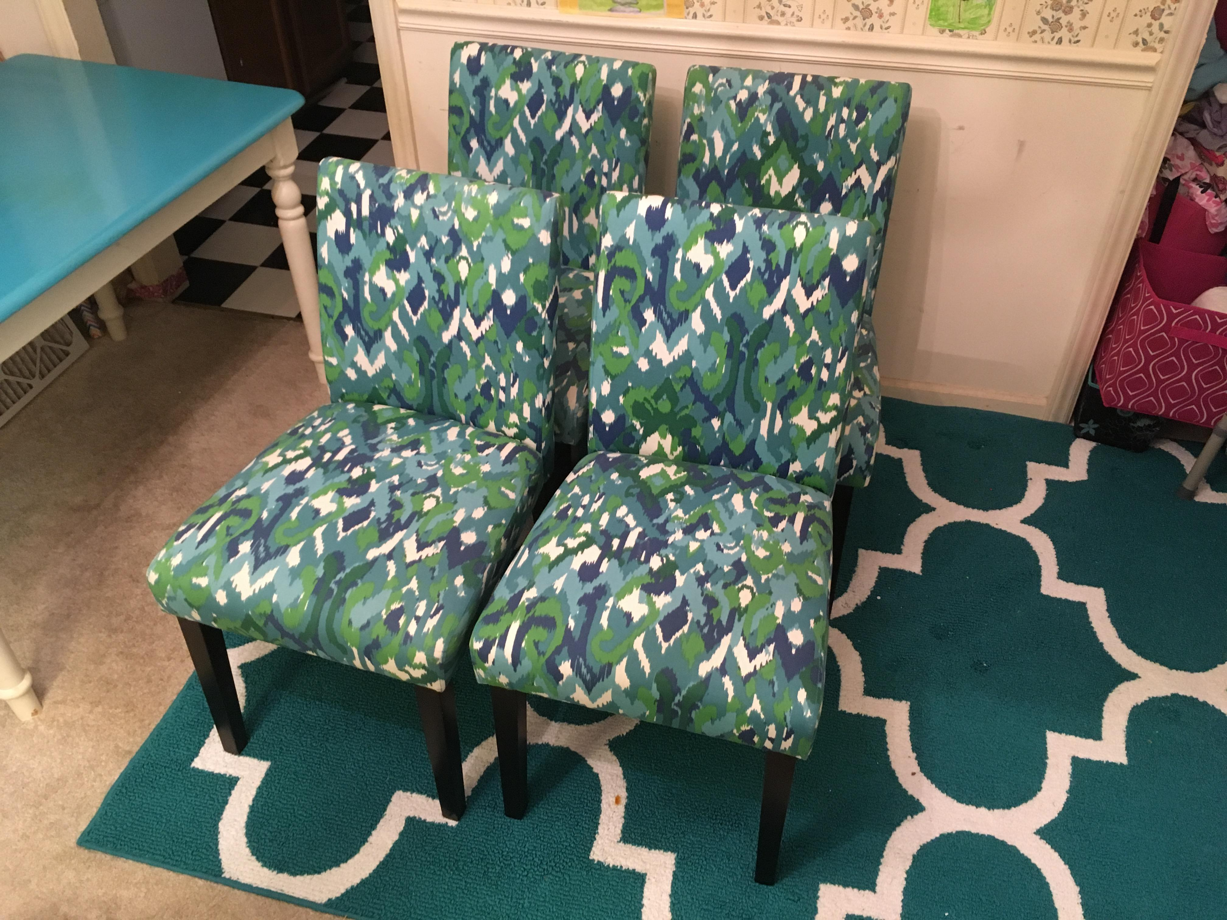 Teal Ikat Design Parsons Fabric Chairs Set of 4 Chairish : 4605ca45 833b 4899 bd7d 4a9897b78be1aspectfitampwidth640ampheight640 from www.chairish.com size 640 x 640 jpeg 68kB