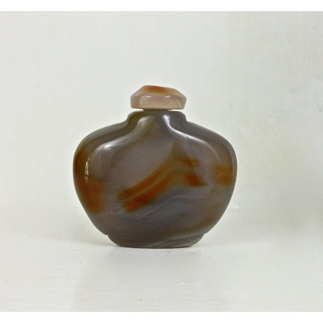 Image of Polished Yellow Agate Snuff Bottle