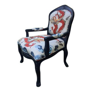 Antique Hippy Chic French Chair in Carlton V Fabic