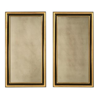 StrCustom Mirrors With Antique Glass - A Pair