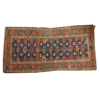"Antique Kurdish Rug Runner - 4'9"" x 9'10"""