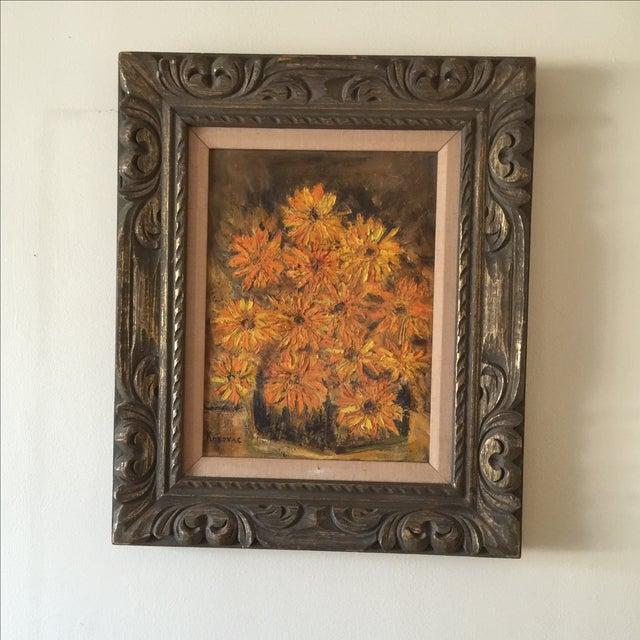 Vintage Framed Still Life Oil Painting - Image 9 of 9