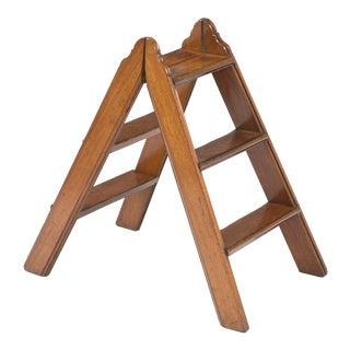 Mahogany Double Sided Folding Step Ladder, Circa 1870
