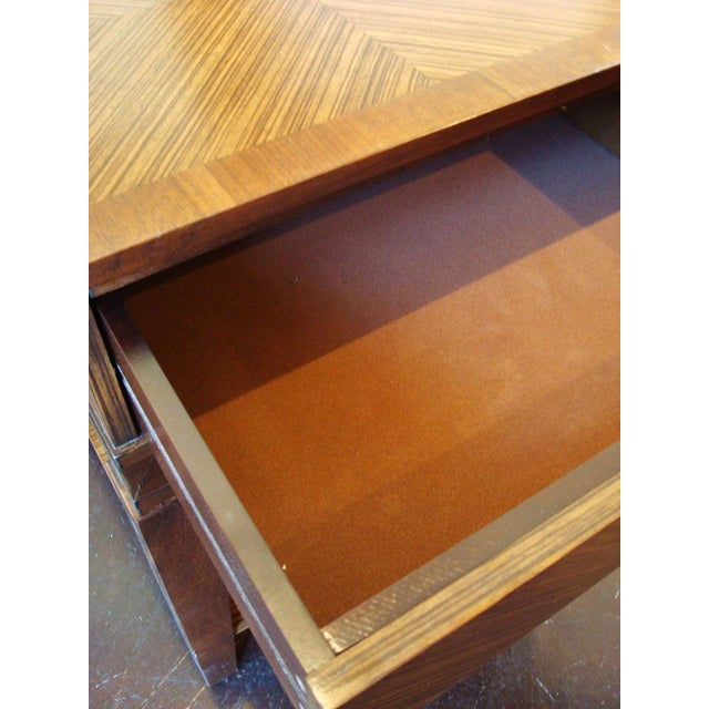 New Mid-Century Style End Table With Drawer - Image 6 of 6