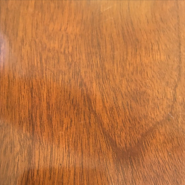 Old Colony Mahogany Pedestal Dining Table & Leaves - Image 6 of 11