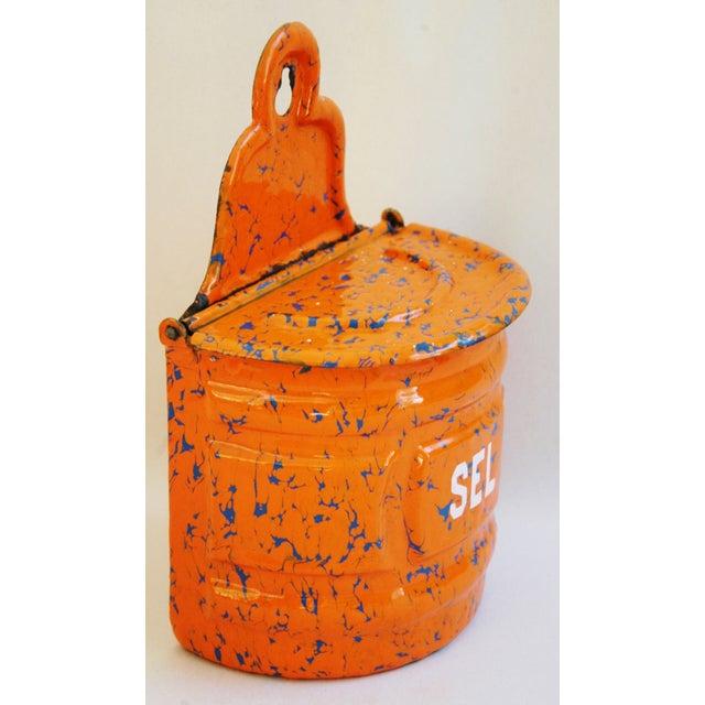1940s French Marbleized Enameled Sel/Salt Holder - Image 5 of 7