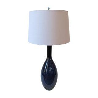 Tall Indigo Table Lamp