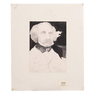 Nathaniel Hawthorne Portrait Drawing by Charles Bragg