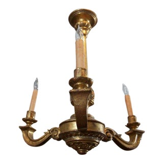 Carved Giltwood Three Light Chandelier