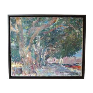 "René Zimmermann ""Varages Var"" Landscape Painting"