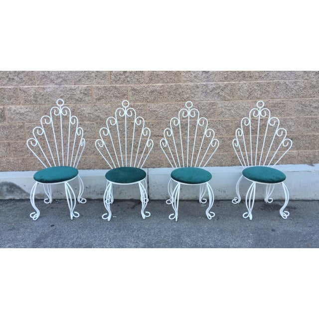 Image of French Hollywood Regency Rod Iron Chairs - S/4