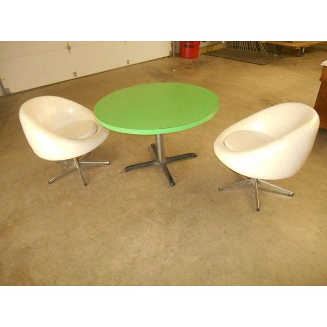 Vintage Mid Century Modern Dining Set Set Of 3 Chairish