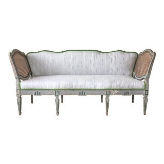19th Century Austrian Sofa with Scalamandre Faux Bois Upholstery