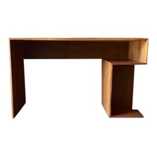 Mid-Century Style Walnut Zig Zag Desk