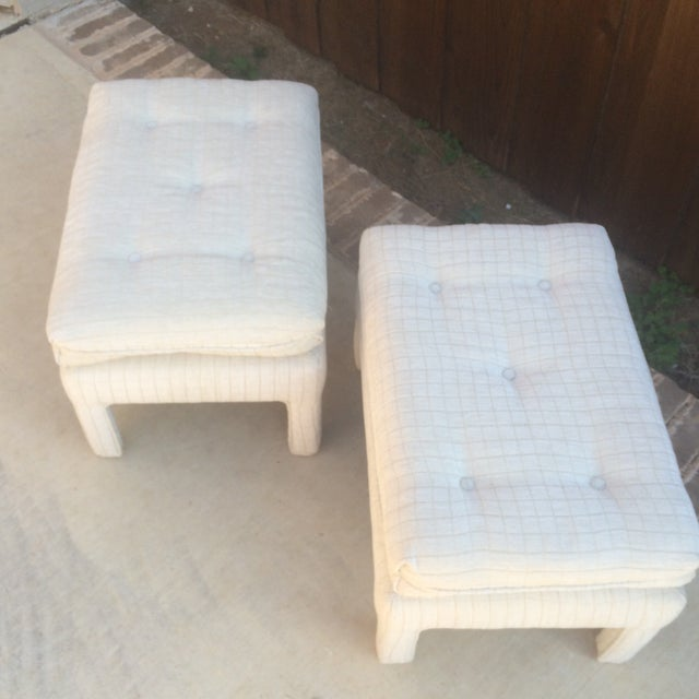 Vintage Parsons Style Footstools - A Pair - Image 4 of 6